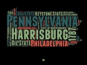 NAXART Studio - Pennsylvania Word Cloud 1