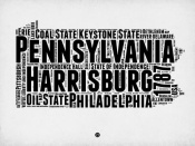 NAXART Studio - Pennsylvania Word Cloud 2