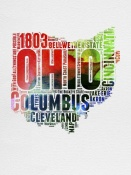 NAXART Studio - Ohio Watercolor Word Cloud