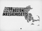NAXART Studio - Massachusetts Word Cloud 2
