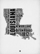 NAXART Studio - Louisiana Word Cloud 2