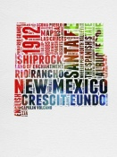 NAXART Studio - New Mexico Watercolor Word Cloud
