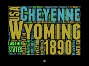NAXART Studio - Wyoming Word Cloud 1