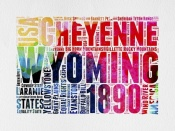 NAXART Studio - Wyoming Watercolor Word Cloud