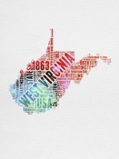 NAXART Studio - West Virginia Watercolor Word Cloud
