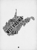 NAXART Studio - West Virginia Word Cloud 2