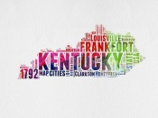 NAXART Studio - Kentucky Watercolor Word Cloud