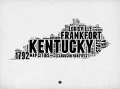 NAXART Studio - Kentucky Word Cloud 2