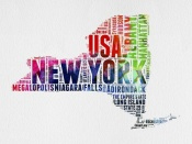 NAXART Studio - New York Watercolor Word Cloud