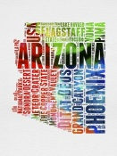 NAXART Studio - Arizona Watercolor Word Cloud