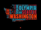 NAXART Studio - Washington Word Cloud 1