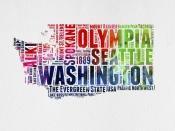 NAXART Studio - Washington Watercolor Word Cloud