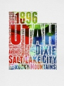 NAXART Studio - Utah Watercolor Word Cloud