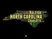 NAXART Studio - North Carolina Word Cloud 1
