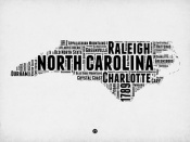 NAXART Studio - North Carolina Word Cloud 2