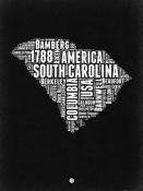 NAXART Studio - South Carolina Black and White Map