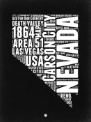 NAXART Studio - Nevada Black and White Map