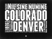 NAXART Studio - Colorado Black and White Map