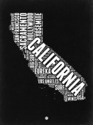 NAXART Studio - California Black and White Map