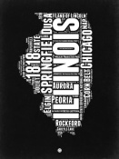 NAXART Studio - Illinois Black and White Map