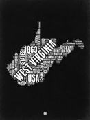 NAXART Studio - West Virginia Black and White Map
