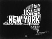 NAXART Studio - New York Black and White Map