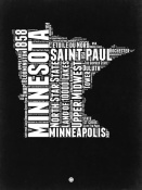 NAXART Studio - Minnesota Black and White Map