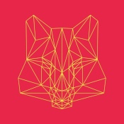 NAXART Studio - Fox on Red