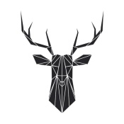 NAXART Studio - Black Polygon Deer