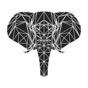 NAXART Studio - Black Elephant Polygon