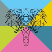 NAXART Studio - Party Elephant Polygon 2