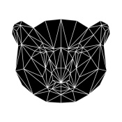 NAXART Studio - Black Bear Polygon
