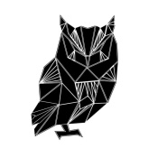 NAXART Studio - Black Owl Polygon