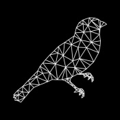 NAXART Studio - Bird Polygon Black