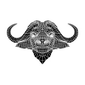 NAXART Studio - Black and White Buffalo Mesh