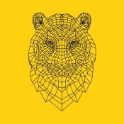NAXART Studio - Tiger Head Yellow Mesh