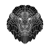 NAXART Studio - Lion Head Black Mesh 2