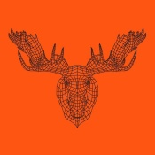 NAXART Studio - Moose Head Orange Mesh