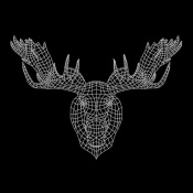 NAXART Studio - Moose Head Black Mesh