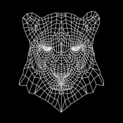 NAXART Studio - Panther Head Black Mesh