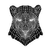NAXART Studio - Panther Head Mesh