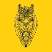 NAXART Studio - Horse Head Yellow Mesh