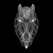 NAXART Studio - Horse Head Black Mesh