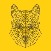 NAXART Studio - Mountain Lion Yellow Mesh