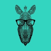 NAXART Studio - Zebra in Glasses
