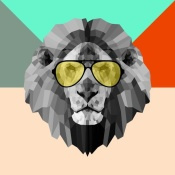 NAXART Studio - Party Lion in Glasses