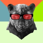 NAXART Studio - Party Panther in Red Glasses