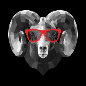NAXART Studio - Ram in Red Glasses
