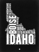 NAXART Studio - Idaho Black and White Map