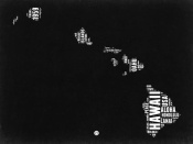 NAXART Studio - Hawaii Black and White Map